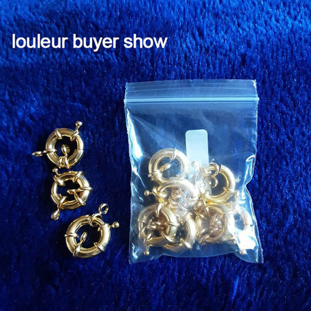 10pcs Copper Sailor Clasps Connector Fit Charm Bracelets End Clasps DIY Jewelry Making Findings Round Clavicle Necklace Clasp 2