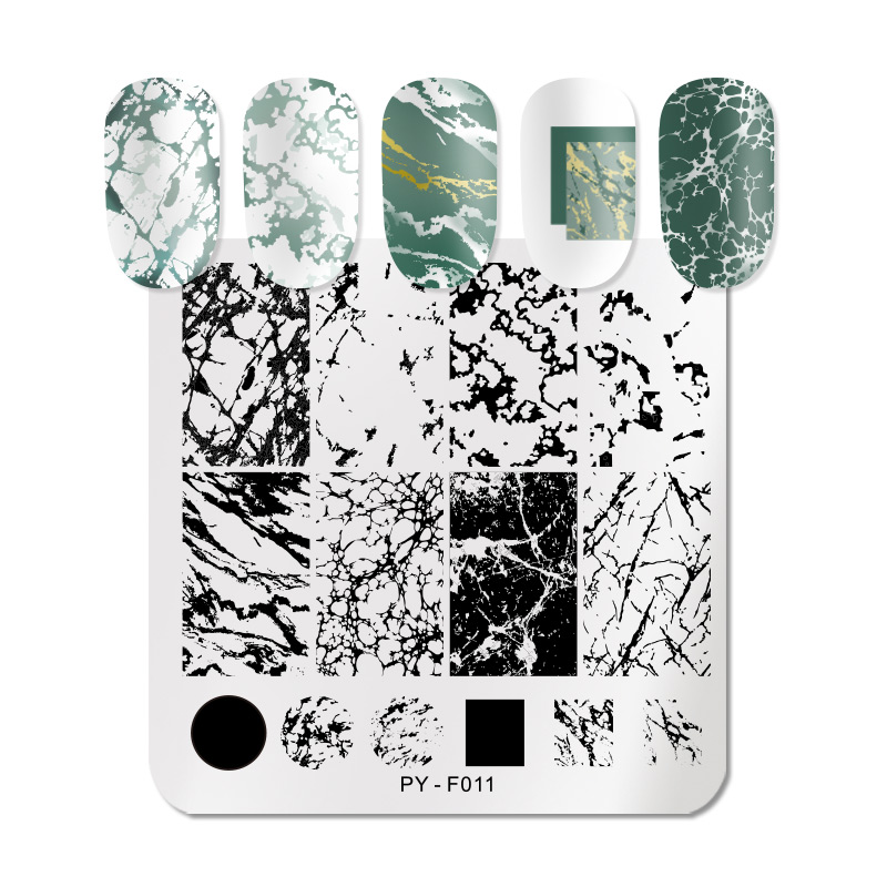 PICT YOU Marble Striped Line Christmas New Year Nail Stamping Plates Flower Leaves Geometric Plate Stainless Steel Stencil Tools