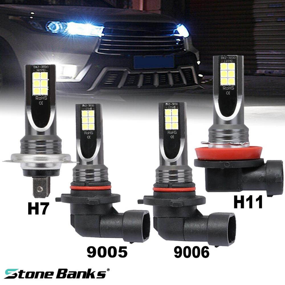 Stone Banks H1 H3 H7 H11 H8 H9 H16 9005 HB3 9006 HB4 LED Light Bulbs For Auto 8000Lm Car Lights 12V Fog Lamp 3000K 6000K 8000K