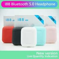 I88 TWS auriculares inalámbricos auriculares Bluetooth 5,0 2019 Mini control táctil auriculares estéreo en la oreja PK i9S i10 TWS para teléfono