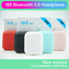 i88 TWS Wireless headphone Earphone Bluetooth 5.0 2019 Mini Touch control Stereo