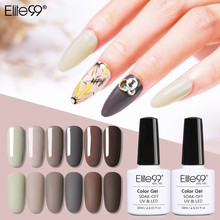 Elite99 10 Ml Macchiato Warna Seni Kuku Gel Efek Matte Uv Gel Nail Polish Top Gel Rendam Off Gel lacquer Lucky Cat Kuku(China)