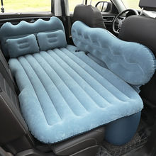 lazy inflatable bed home new air single two people both use black wave flocking bed factory creative home wholesale air soa beds Car inflatable bed car inflatable mattress home suv Back row luchtbed flocking increased file air cushion bed car accessories