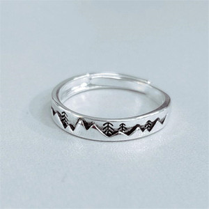 New Simple Personality Sweet Retro Christmas Tree 925 Sterling Silver Jewelry Wave Exquisite Opening Rings SR544