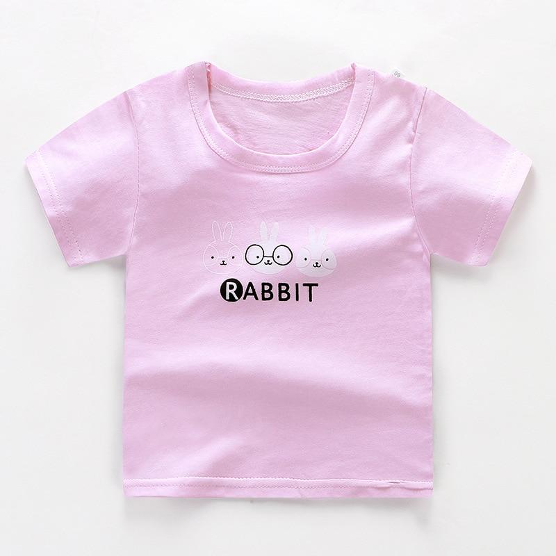 От 2 до 6 лет Детская одежда унисекс летняя футболка с короткими рукавами и круглым вырезом для мальчиков детская хлопковая одежда для девочек Детская футболка Короткие футболки в полоску - Цвет: 08