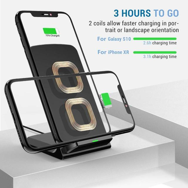 30W Qi Wireless Charger Stand For iPhone 12 11 XS XR X 8 Wireless Fast Charging Dock Station Phone Charger For Samsung S20 S10 3