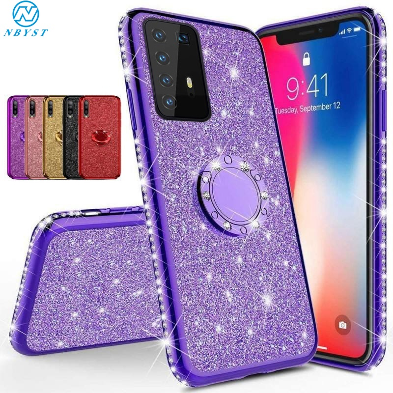 3D <font><b>Diamond</b></font> Glitter Soft <font><b>Case</b></font> for <font><b>Huawei</b></font> 20 Lite 20S 9X 10 Lite 8A 8X 7X Bling Cover on Mate 30 20 10 Lite P30 <font><b>P20</b></font> Pro P Smart Y9 image