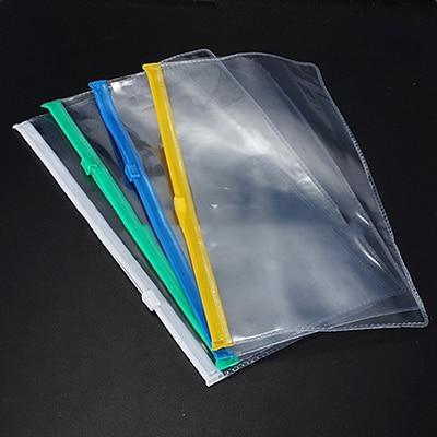 A6 Paper File Folder Book Pencil Pen Case Bag Pouch Plastic Clear Portable