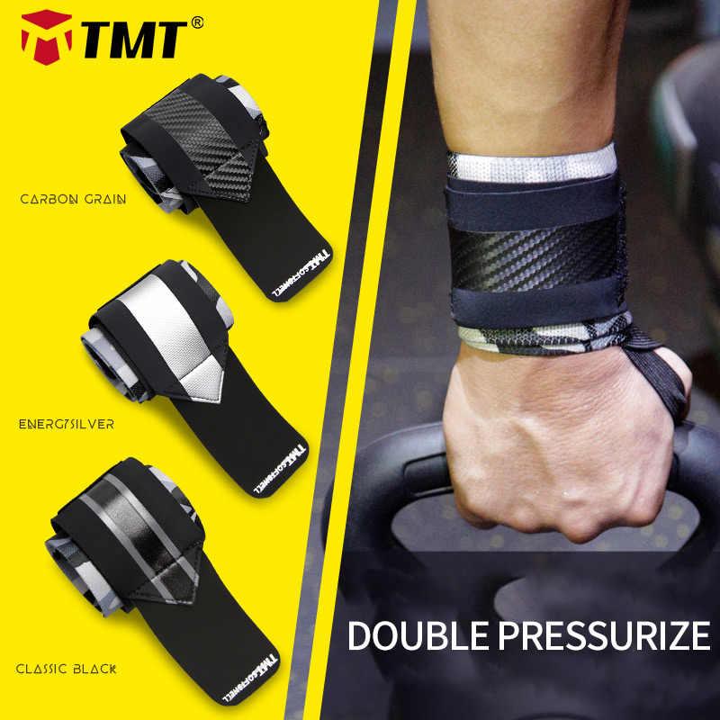 Tmt ginásio envoltórios de pulso pulseira bandagem para levantamento de peso powerlifting halterofilismo equipamentos mão pesos apoio túnel carpal