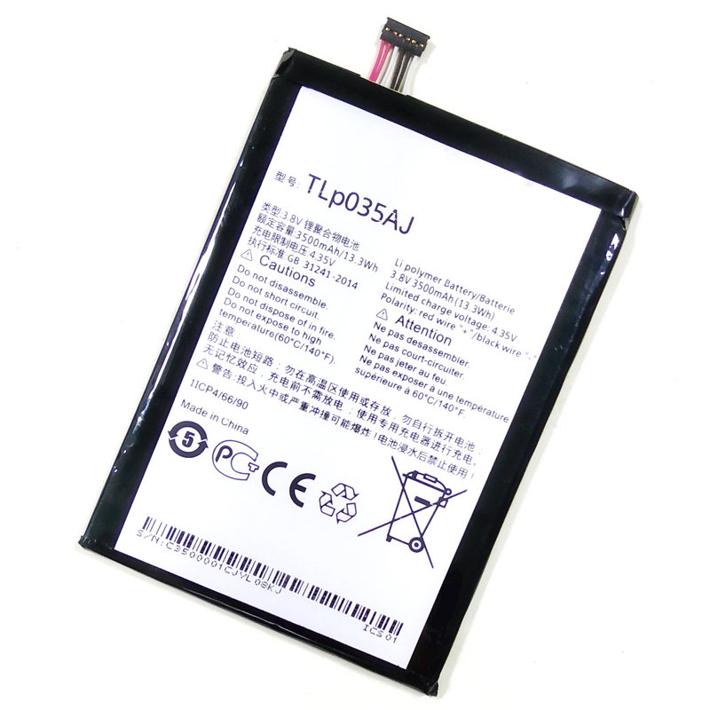 Westrock TLp035AJ 3500mAh Battery for Alcatel One Touch M823 N1 MAX Cell Phone