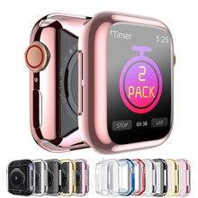Capa para apple assistir caso série 6 5 4 3 se suave tela clara tpu protetor pára-choques iwatch caso 44mm 42mm 40mm 38mm acessórios