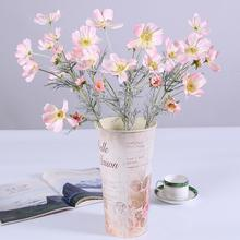 Hot 1Pc Artificial Coreopsis Flower Cloth Plastic Home Party Fake Cosmos Table Centerpiece Faux Realistic Bright Decor