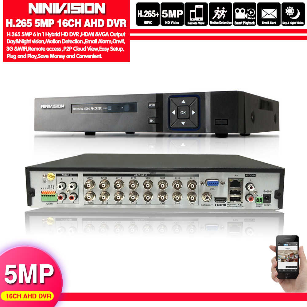 16 kanal AHD DVR 5MP DVR 16CH AHD AHD 5MP NVR desteği 2560*1920P 5.0MP kamera CCTV Video kaydedici DVR NVR HVR güvenlik sistemi