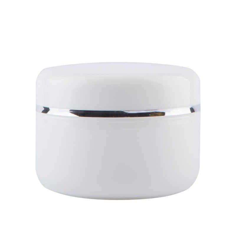1PCs ขวดรีฟิลขวด Travel ครีมโลชั่นคอนเทนเนอร์เครื่องสำอางสีขาวพลาสติกแบบพกพาแต่งหน้าที่ว่างเปล่า Jar 20/50 /100/250G