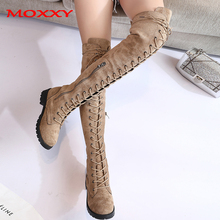 2020 New Sexy Ladies Lace Up Over The Knee Boots Plus Size 43 Platfrom Long Boots Women Shoes Thigh High Boots Zapatos De Mujer