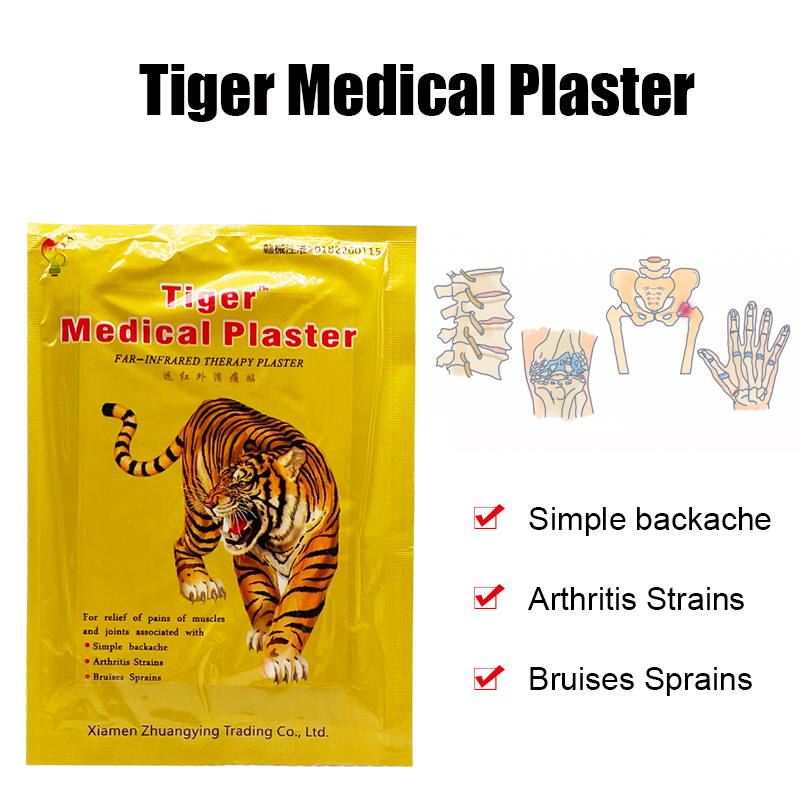 8PCS Tiger Balm Patch Effective Cure Joint Arthritis Rheumatoid Pain Relief Stickers Back Relaxing Massage Patches Body Care