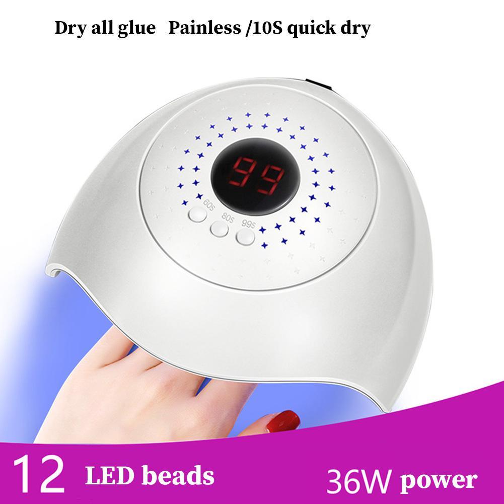 Blau ZOO 36 W LED Rot Blau Licht Intelligente Induktion Display Phototherapie Maniküre Maschine Werkzeug