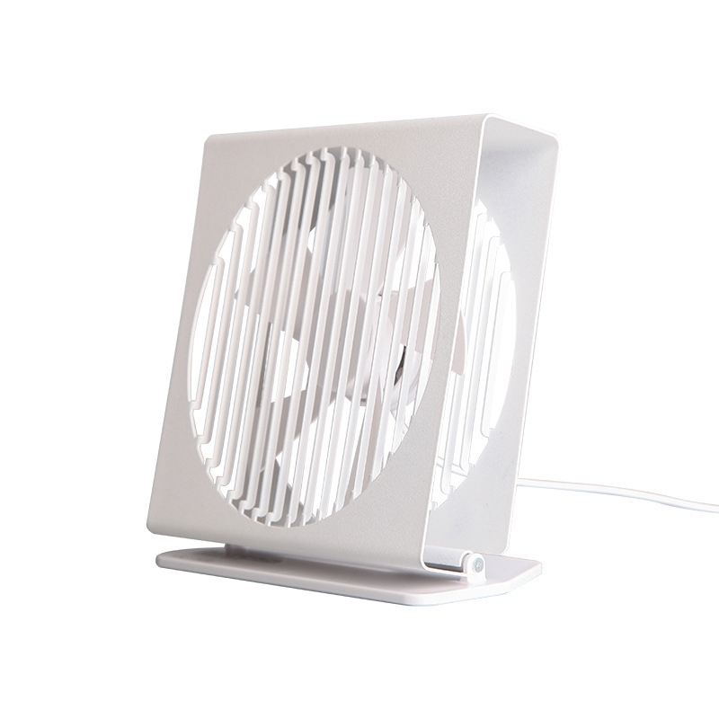 Top Sale 7 Inch USB Desk <font><b>Fan</b></font> Metal Frame Portable Desktop Table <font><b>Fan</b></font> Dual <font><b>Motor</b></font> Driver <font><b>Fan</b></font> for Home Office Travel-White image