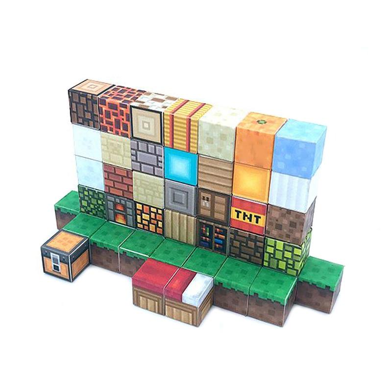 10 pçs magnético blocos de construção meu mundo brinquedo diy kit brinquedos hobby para crianças meninos crianças brinquedos melhor amigos presente mini blocos tijolos