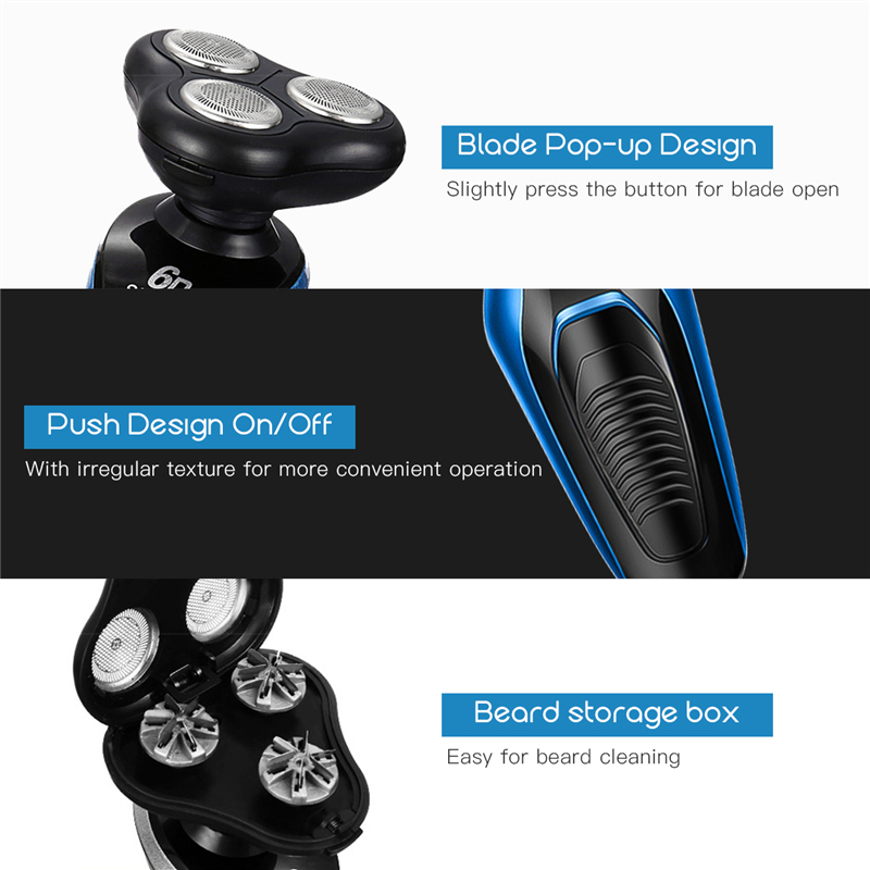 4 In 1 Men Electric Shaver Nose Trimmer  Rechargeable Electric Razor Shaving Machine Beard Trimmer Face Cleaning Brush 5