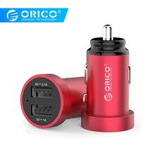 ORICO Mini Dual USB Car Charger Fast Charging for iPhone X XR XS Huawei Xiaomi Mobile Phone Tablet GPS Car-Charger