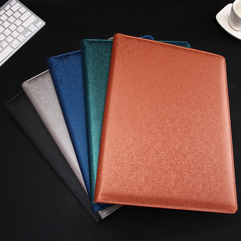 Multi-Functional A4 Business Office Information Clip Calculator Board Clip Leather Manager Folder To Send To Friends