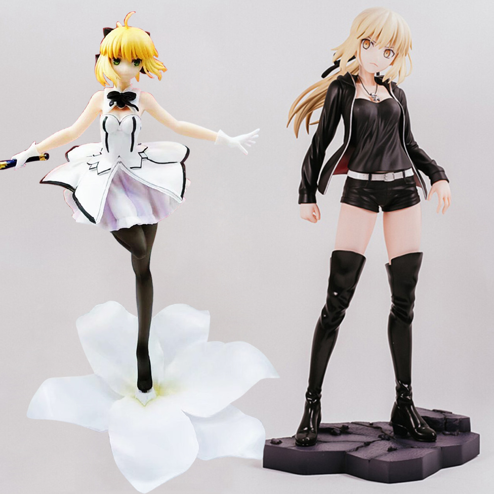 Fate Grand Order 24cm Saber FATE The Holy Grail War Fate Stay Night PVC Action Figures Toys Anime Figure Toys For Kids Children