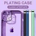 Luxus Überzug Rahmen Klar Weichen TPU Fall Für iPhone 11 12 Pro Max Mini Transparente Abdeckung