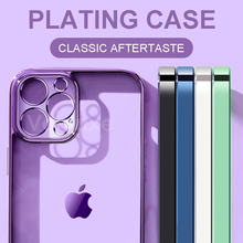 Luxury Plating Frame Clear Soft TPU Case For iPhone 11 12 Pro Max Mini Transparent Cover