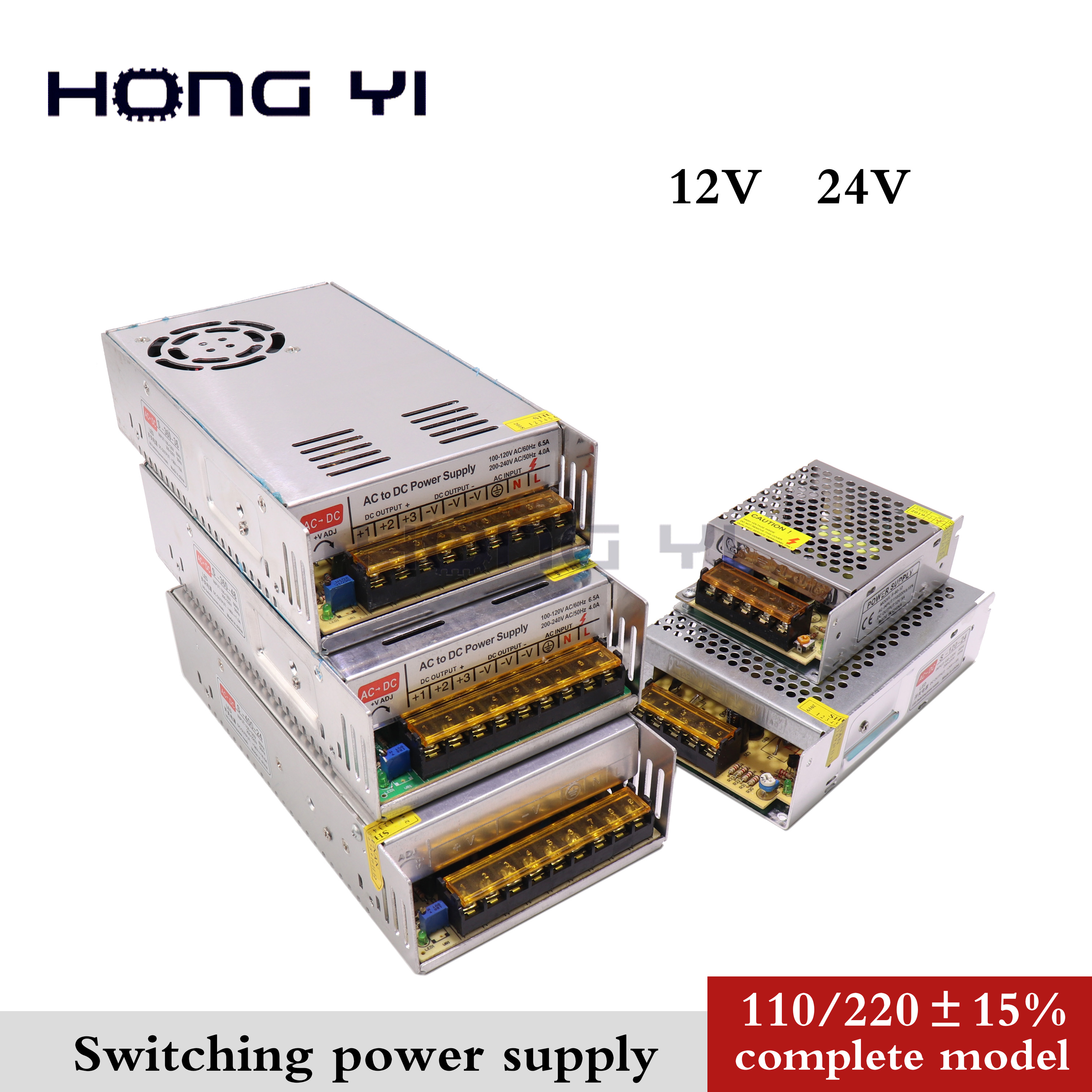 12V <font><b>Switching</b></font> <font><b>Power</b></font> <font><b>Supply</b></font> 2A 3A 5A 10A 15A 20A 30A <font><b>40A</b></font> <font><b>Power</b></font> <font><b>Supply</b></font> <font><b>Switching</b></font> <font><b>Power</b></font> AC 110V 220V To DC <font><b>24V</b></font> For Led Strip Lights image
