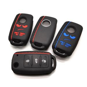 Image 3 - New design word Dont Touch My Key For Volkswagen polo passat b5 golf 4 5 6 MK6 Eos Bora Beetle TSI Silicone car key cover case