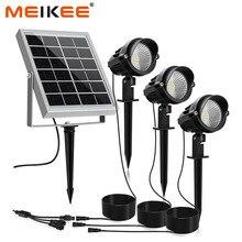 3 в 1 уличный светодиодный фонарь на солнечной батарее IP66, водонепроницаемый светодиодный светильник на солнечной батарее, уличный прожектор светильник сада, патио, ландшафта, лужайки