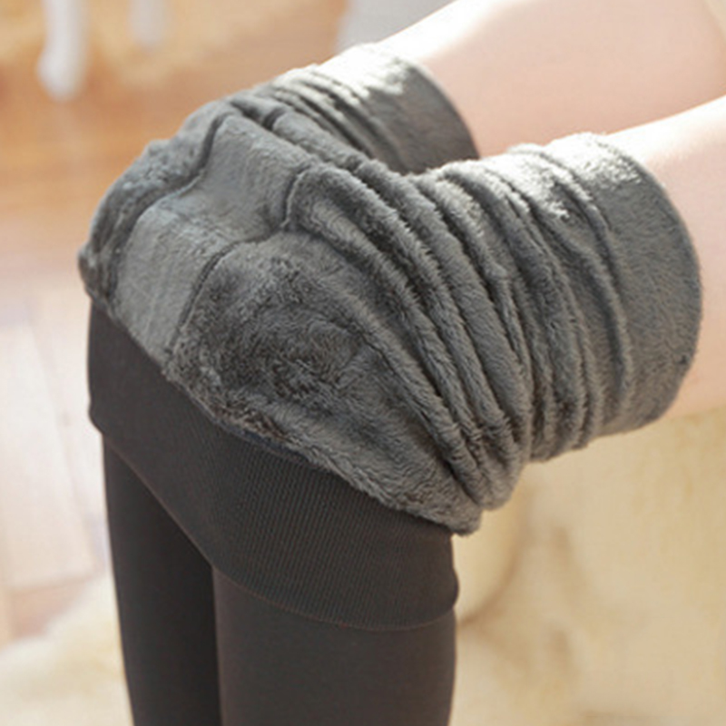 Sexy Warm Wool Fleece Leggings Women Winter Casual Fashion High Waist Plus Velvet Legging Pants Female Push Up Cashmere Trousers