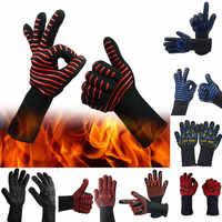 Hot CHURRASCO Grelhar Cozinhar Luvas de forno Resistente a Calor Extremo rekawiczki handschoenen Soldagem Luvas luvas de inverno luvas mittens