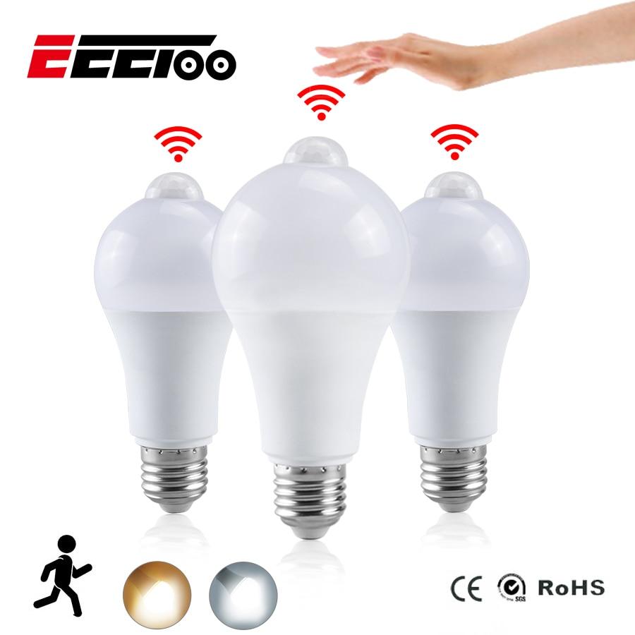 Eeetoo Lamp Led-Bulb Night-Light Pir Sensor Motion Home 15W E27 20W AC B22 18W 12W Dusk