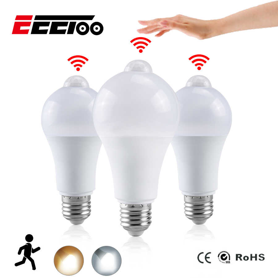 EeeToo Night หลอดไฟ LED PIR SENSOR Motion AC 85-265V B22 E27 หลอดไฟ LED 12W 15W 18W 20W Dusk TO Dawn Light สำหรับ Home