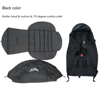 3Pcs/set Stroller Cover And Cushion Oxfords Back Zipper Pocket Baby Stroller Accessories For Babyzen yoyo Yoya Babytime Stroller 7