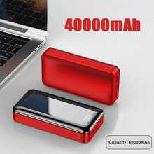 40000mah Power Bank External Battery 18650 PoverBank 2 USB LED Powerbank Type-c Portable Mobile phone Charger for iPhone Xiaomi