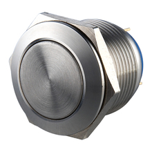 19mm pin terminal electrical metal push button switch with stainless steel crust