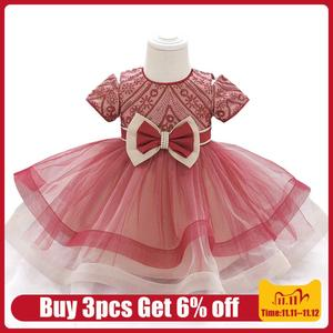 LZH Infant Dresses For Baby Girl Lace Princess Dress Baby 1st Year Birthday Dress Baptism Party Dress Newborn Clothes 6-24 Month