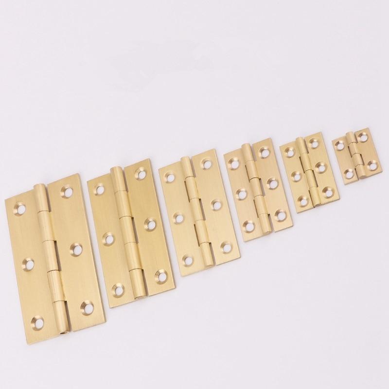 """Матовые латунные дверные петли для шкафа, мебель для шкафа, складные стыковые Петли 1,"""" /2""""/2,"""" /3""""-1 упаковка"""