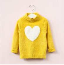 Children Clothes winter Korean Style Baby girls Knitted Pullovers hearts Kids Sweaters Cute  Girls 3-14 years