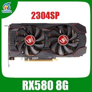 Radeon-carte graphique RX 580 GPU X16 ordinateur de bureau, 8 go GDDR5, 256bit, 3.0 PC, compatible HDMI/DP