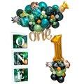 Лидер продаж! Новые детские 1st и надписью «Wild One» День рождения воздушные шары набор джунгли для вечеринки в стиле сафари для декорации детск...