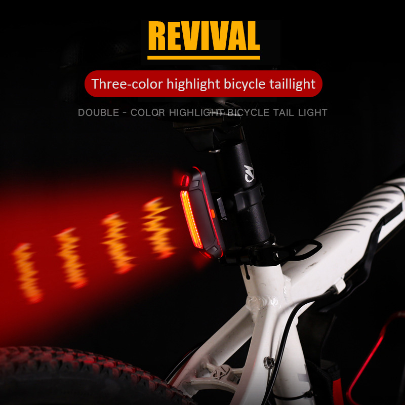 Charging Bicycle Light Taillight Safety Warning Light Laser Tail Light LED USB Waterproof Bike Cycling Rechargeable Rear Light