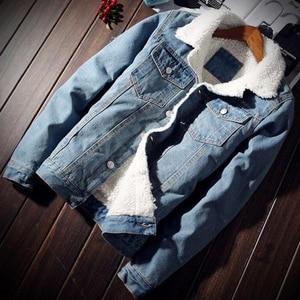 Image 2 - ผู้ชาย Denim แจ็คเก็ตอินเทรนด์ฤดูหนาว Warm Fleece บุรุษ Outwear แฟชั่น Jean แจ็คเก็ตชายคาวบอยสบายๆขนาด 5XL 6XL