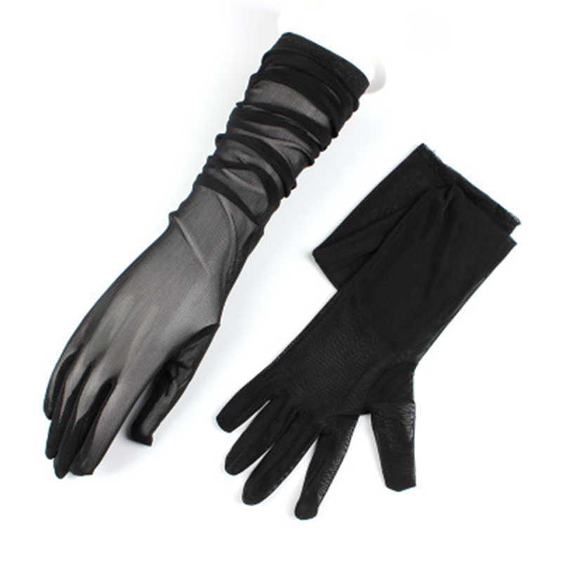 Sexy Summer Female Spider Web Sunscreen Short Lace Gloves Women Ultra-thin Long Anti-UV Elasticity Cycling Driving Gloves H89