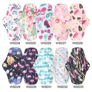 Image 3 - Многоразовые гигиенические прокладки для женщин, 5 шт., многоразовые гигиенические прокладки, абсорбирующие многоразовые бамбуковые менструальные прокладки для угля, моющийся Санитарный Полотенце