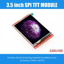 Módulo de 3.5 polegadas tft lcd com driver do painel de toque ili9488 320x480 spi porta serial interface (9 io) toque ic xpt2046 para ard stm32