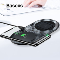 Baseus 15W Dual Wireless Charger for iPhone 11 Pro Max X XS Max XR Visible Wireless Charging Pad for Samsung Galaxy Note 10 S9 8